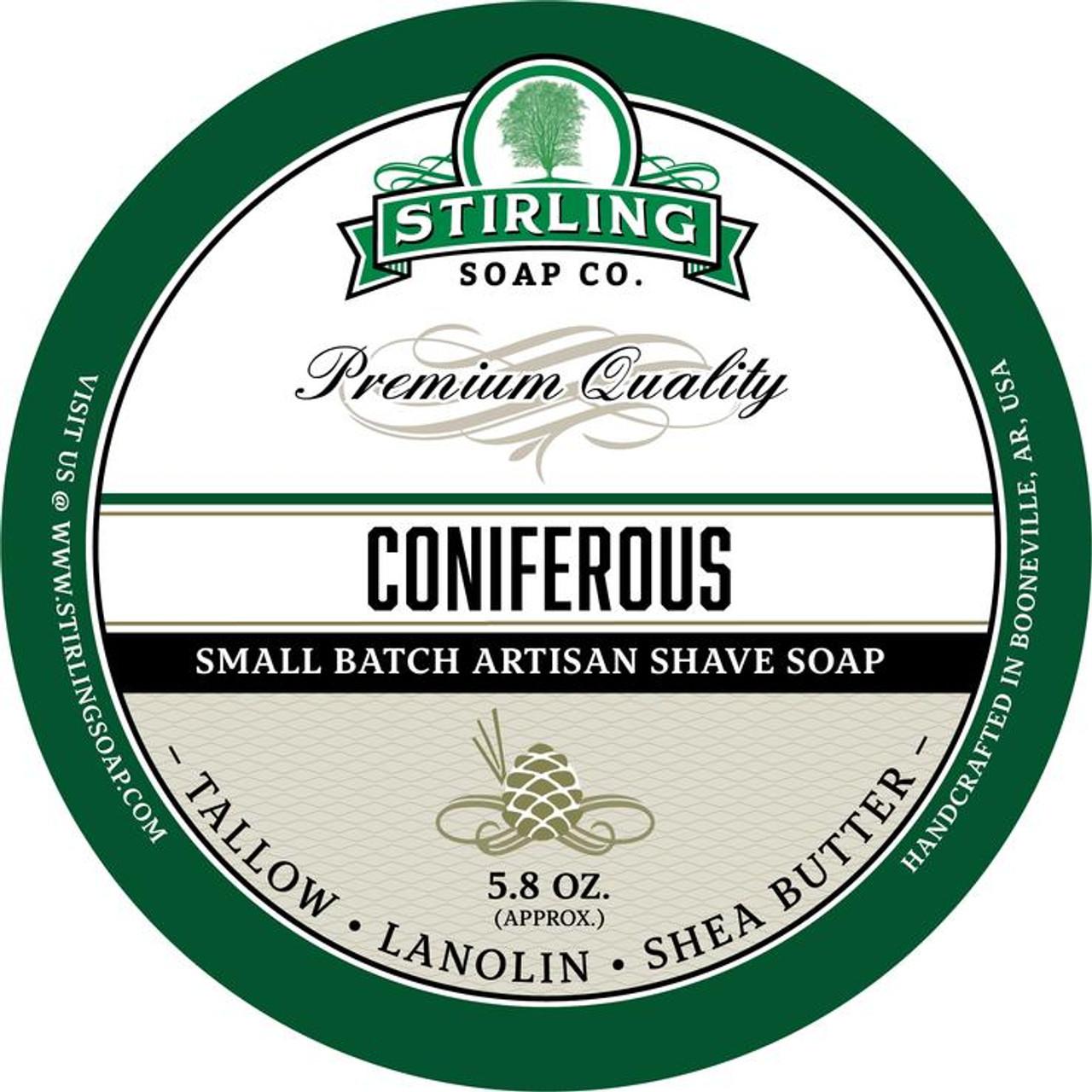 Stirling Coniferous Shave Soap 5.8oz