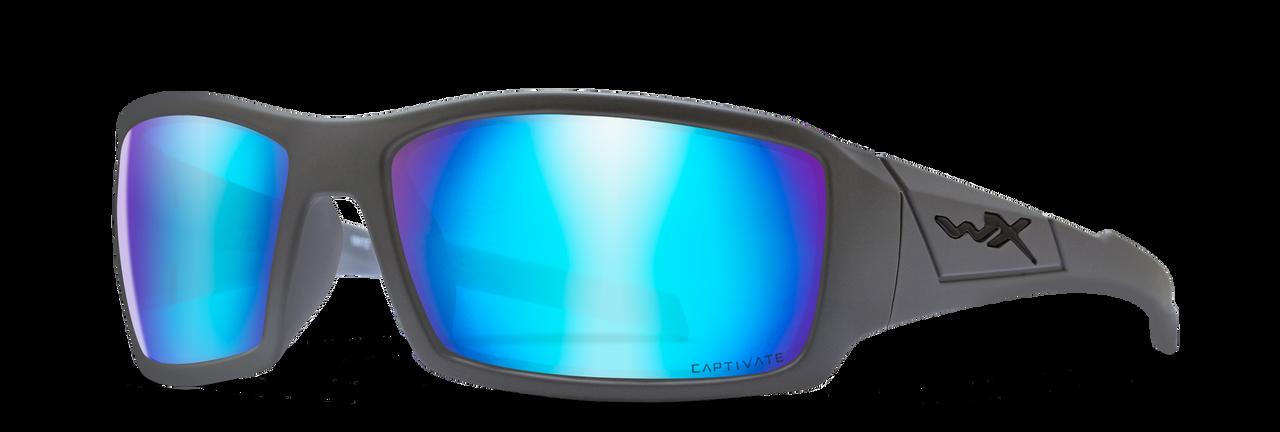 WX SSTW109 Twisted Captivate POL Blue Mirror Lens/ Matte Grey Frame