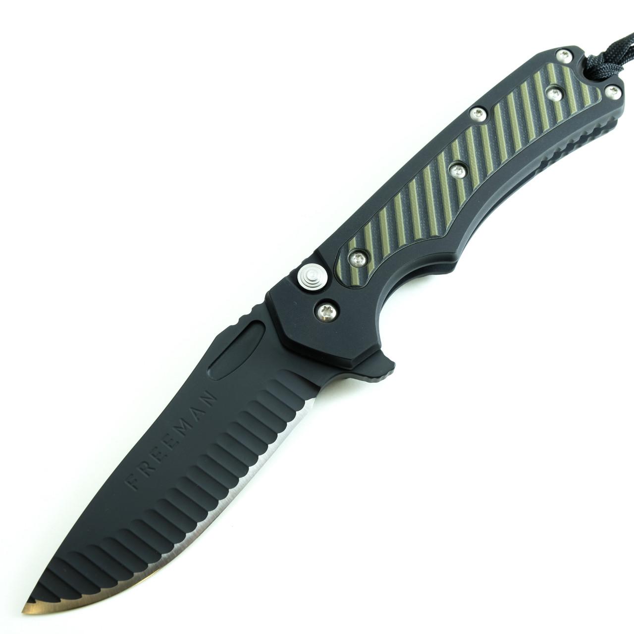 Freeman 451 BLF Black / OD Green & Black G10 Inlay