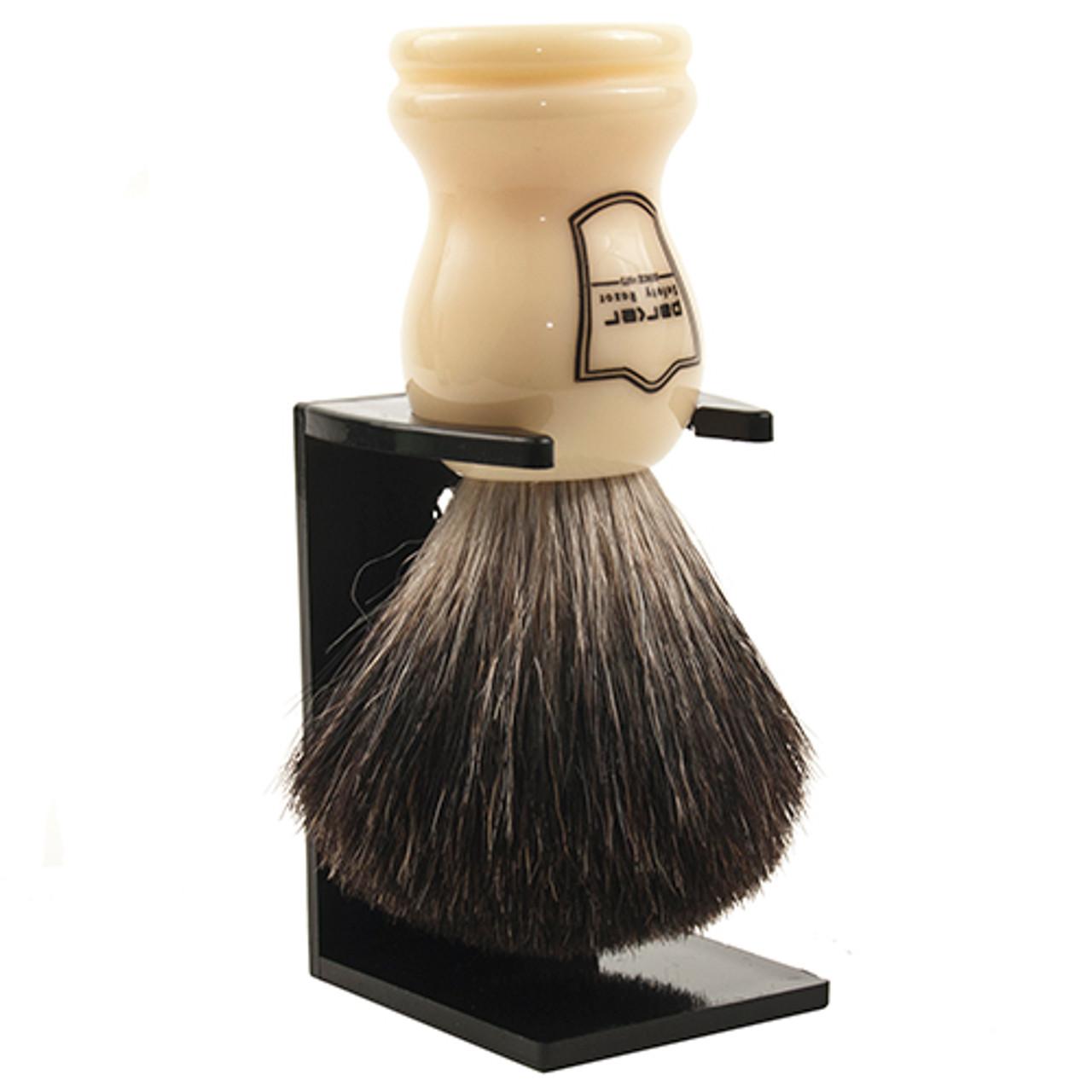 Parker White / Black Badger Brush