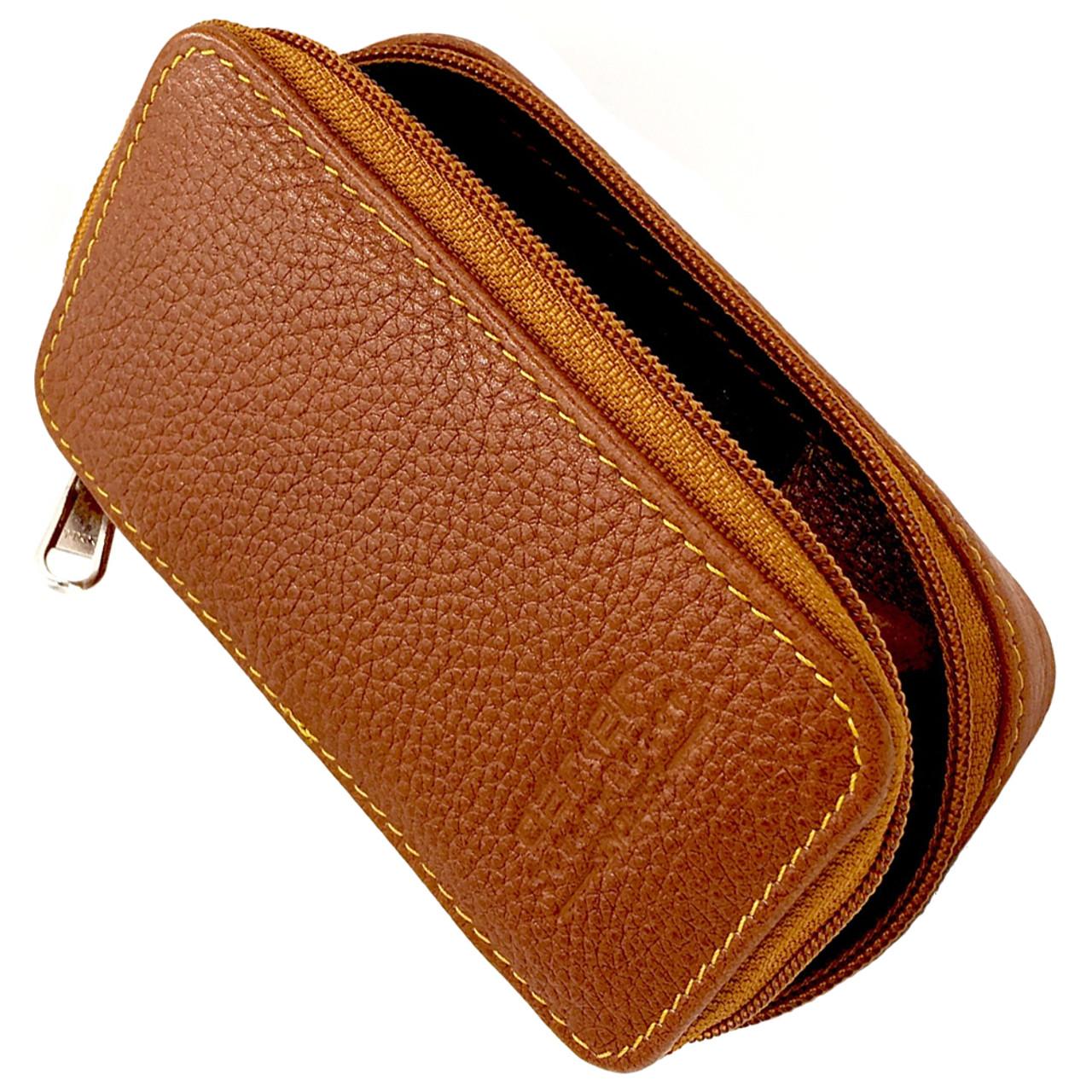 Parker Leather Razor & Blades Case