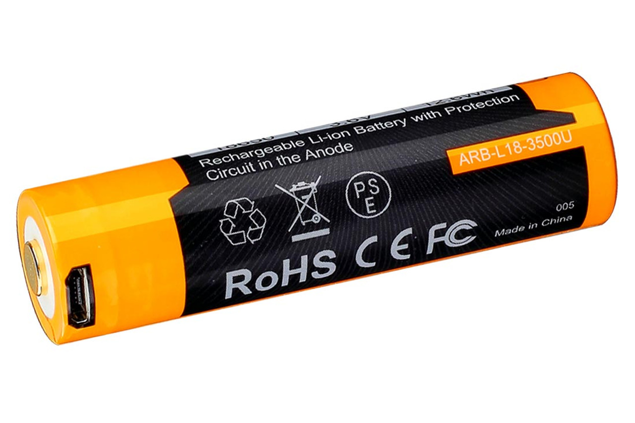 Fenix 18650 USB Rechargeable Battery 3500 mAh