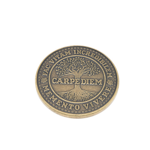Carpe Diem Coin Antique Bronze Finish ABZ