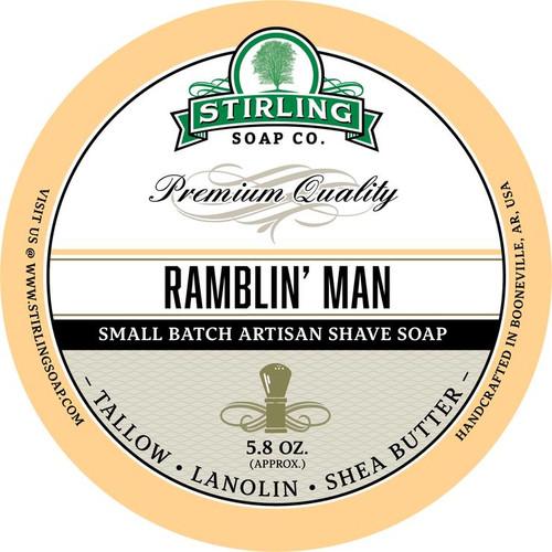 Stirling Ramblin Man Shave Soap 5.8oz