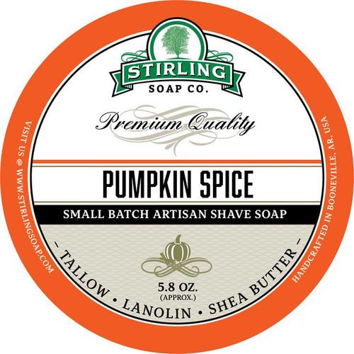 Stirling Pumpkin Spice Shave Soap 5.8oz