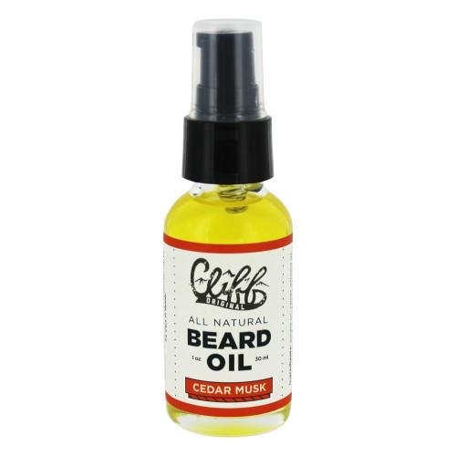 Cliff Beard Oil Cedar Musk 1oz