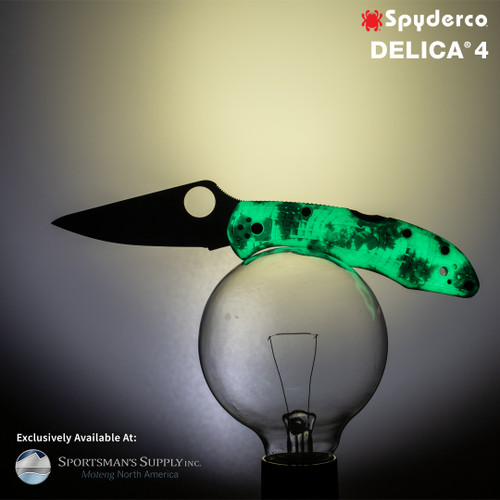 Spyderco Delica 4 ZOME Glow in the Dark *Distributor Exclusive*