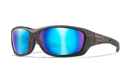 WX CCGRA04 Gravity POL Blue Mirror Lens/Black Crystal Frame