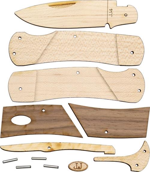JJ's Lockback Wood Knife Kit