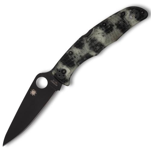 Spyderco Endura 4 - ZOME Glow in the Dark FRN / Black VG-10 - C10ZFPGITDBK *Distributor Exclusive*