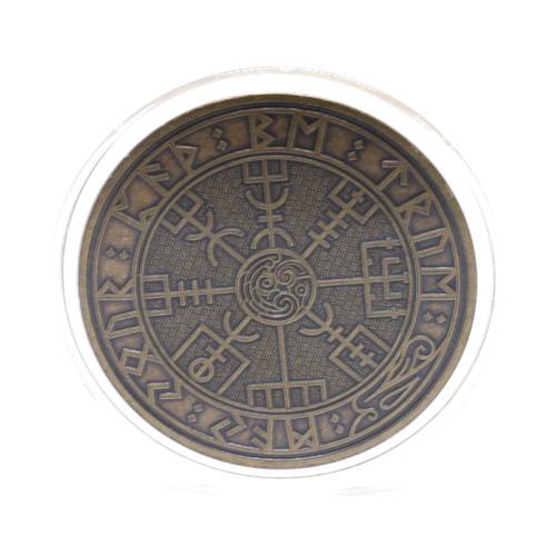 Carpe Diem Viking Travel Coin ABZ Antique Bronze Finish