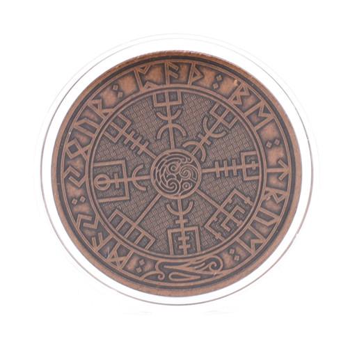 Carpe Diem Viking Travel Coin ACU Antique Copper Finish