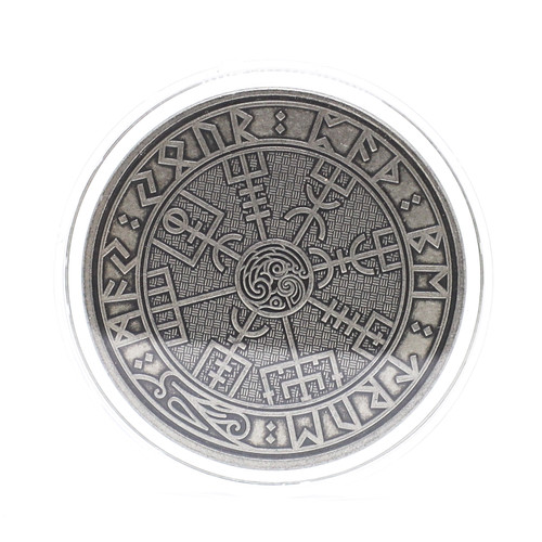 Carpe Diem Viking Travel Coin ANS Antique Nickel Finish