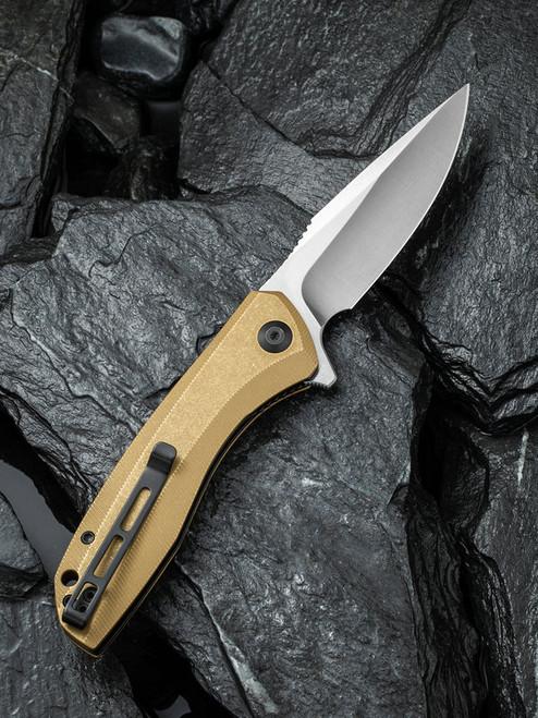 Civivi C801J Stonewashed Brass Handle 154CM