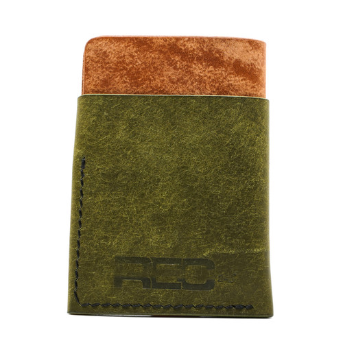 """Unfound Leather Green/Tan """"REC Exclusive"""" Anchor Wallet"""