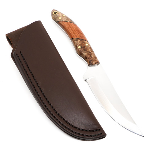Bordertown Blades Eugene Bullard 01 Tool Steel Bubinga/Maple Burl