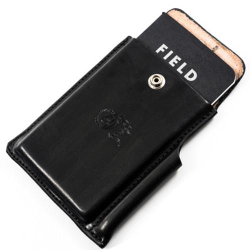 Hinderer Notebook Case, Black Leather