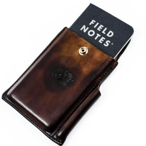 Hinderer Notebook Case, Dark Brown Leather