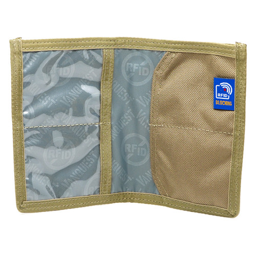Vanquest Cache Coyote Tan RFID Blocking Wallet
