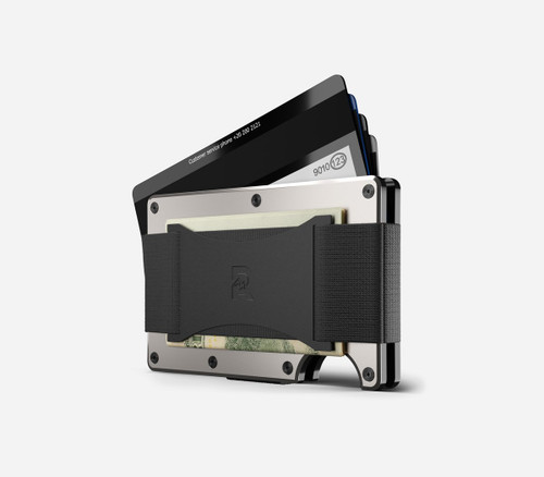 Ridge Wallet Aluminum Raw, Cash Strap