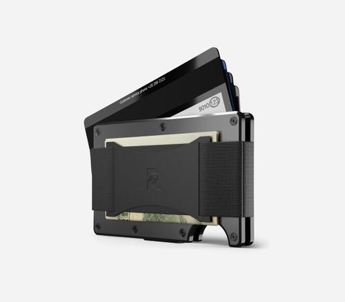 Ridge Wallet Titanium Gunmetal, Cash Strap