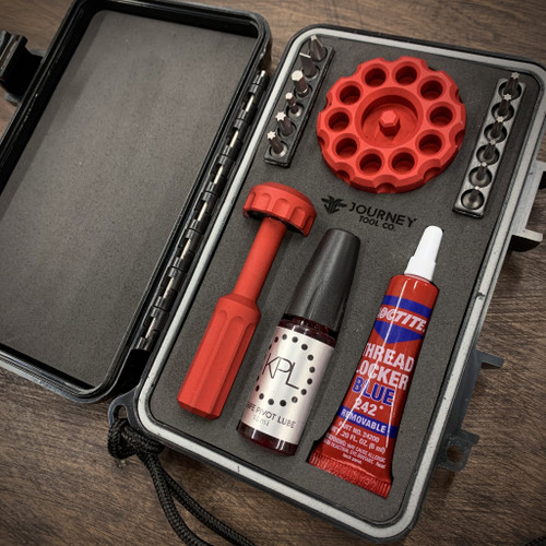 Journey Tool Co. Essentials Maintenance Kit , Fire Engine Red