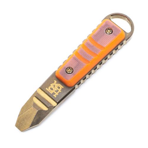 Koch Tools Kursor Prybar - Orange G10/Bronze Ti