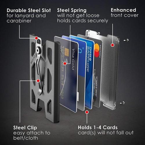 GOVO T4 Badge Holder/Wallet - Blue