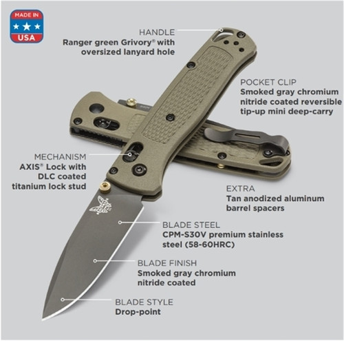 Benchmade 535SGRY-1 Bugout