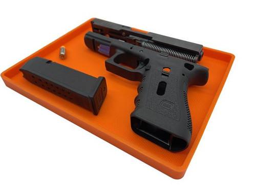 Armorer Large Non Slip Parts Tray - International Orange