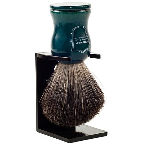 Parker BLBB Blue Wood Handle Black Badger Brush