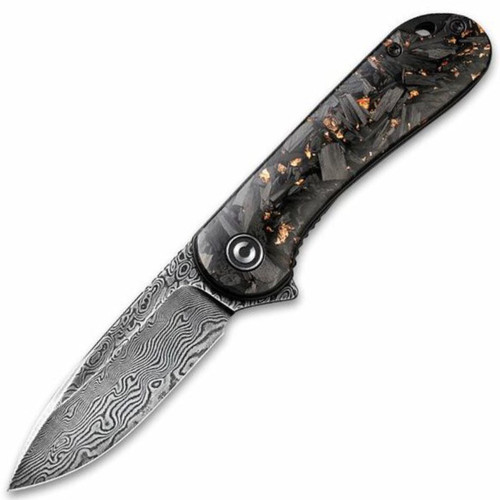 Civivi Elementum - Copper Shred Carbon Fiber / Damascus Blade - C907C-DS3
