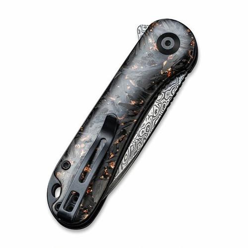 Civivi C907C-DS3 Elementum Copper Shred Carbon Fiber Damascus Blade