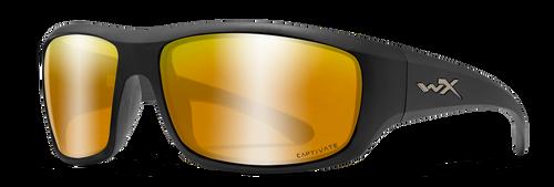 WX ACCOME04 Omega Captivate POL Bronze Mirror Lens/ Matte Black Frame