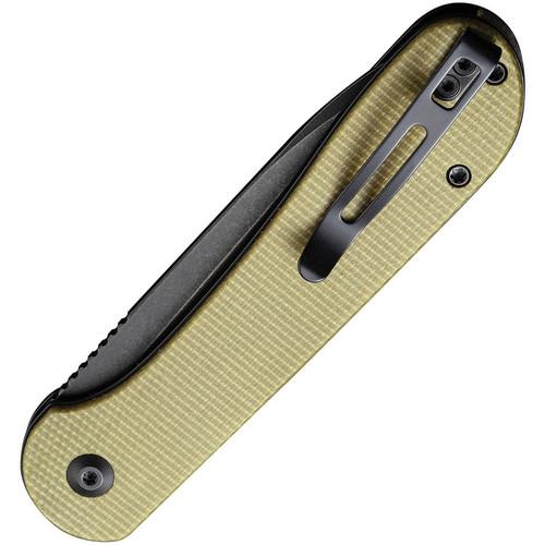 Civivi C2103B Button Lock Elementum Olive Micarta Black SW 14C28N