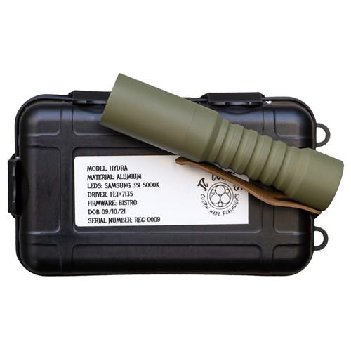 JC CUSTOMS HYDRA 14500 TRIPLE LED FLASHLIGHT ~ REC Custom Shop Exclusive