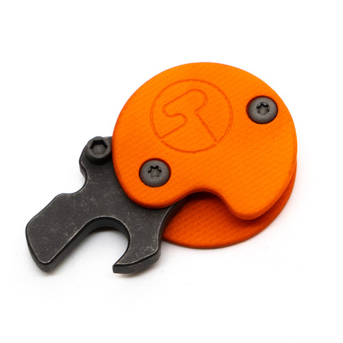 Serge Snapper Orange G10 - Stonewash Ti