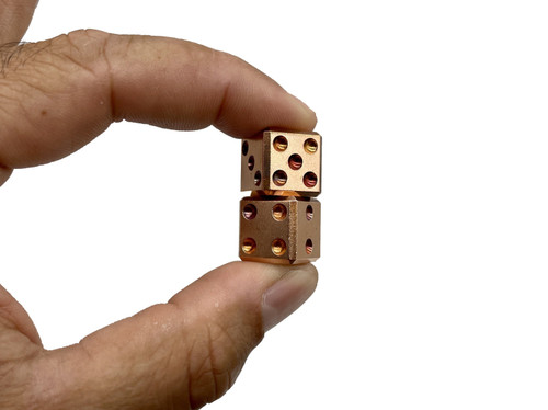County Comm Pair-A-Dice - Copper Dice Set