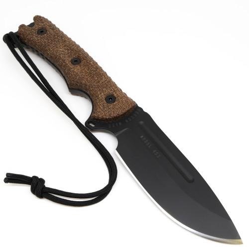 "Freeman Model 451 5"" Fixed Blade Brown Textured Micarta / Black CPM-3V & Black Sheath"
