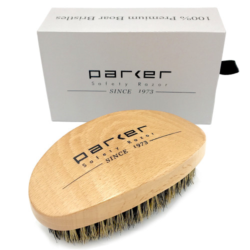 Parker 100% Boar Bristle Beard & Hair Brush