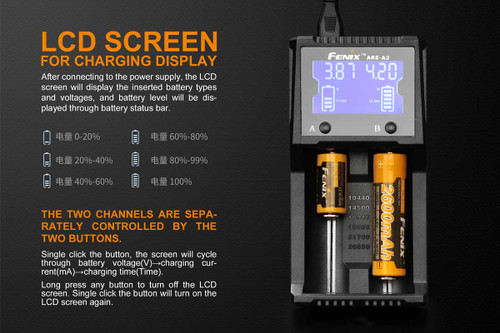 Fenix Dual Bay Charger ARE-A2