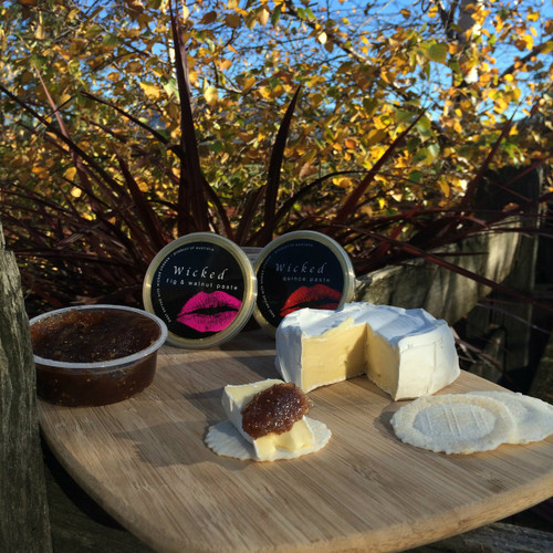 Fig & walnut paste with camembert