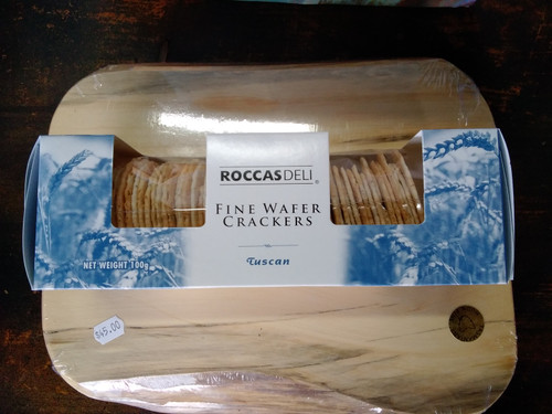Roccas Deli wafer crackers 100g Tuscan