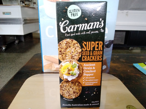 Carmans Super crackers 80g cracked pepper