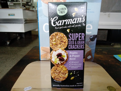 Carmans Super crackers 80g Pepita and poppy