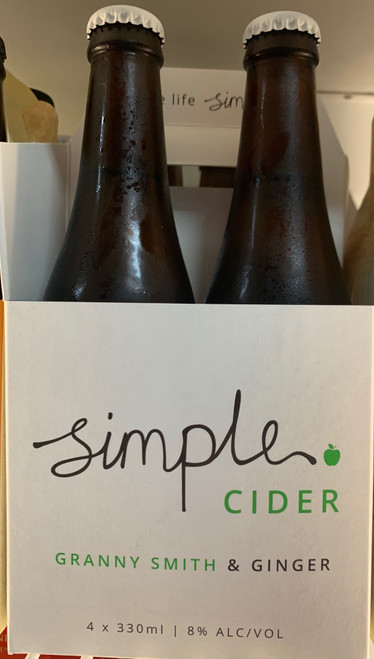 Simple Cider 4 pack (4 x 330ml) Granny Smith & Ginger
