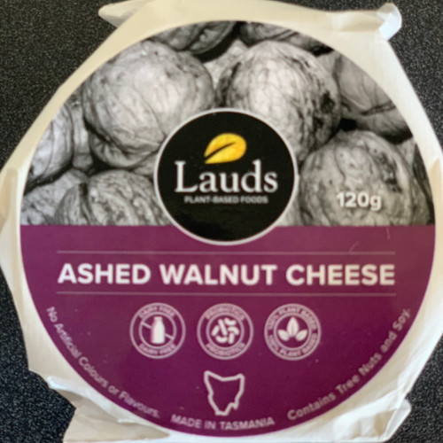 Lauds Plant Based - Ashed Walnut Cheese 120g
