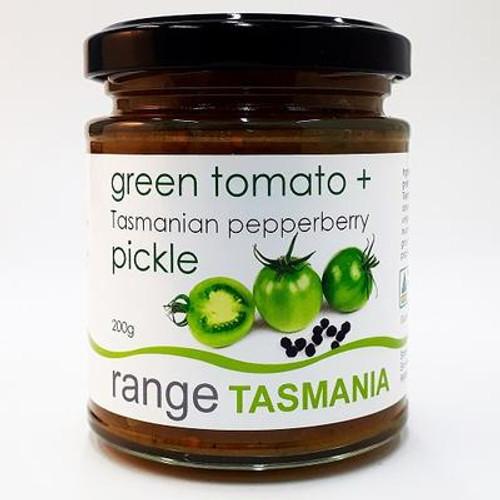 Range Tas green tomato and Tasmanian pepperberry