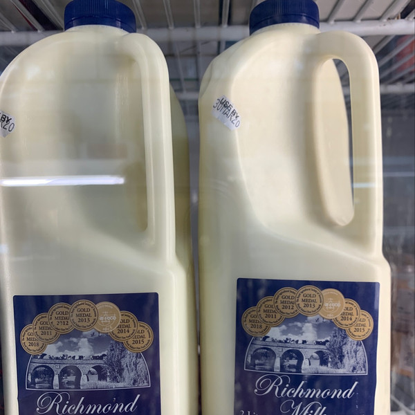 Richmond Milk 2 ltr (Pick up in-store or Hobart and surrounds option only)