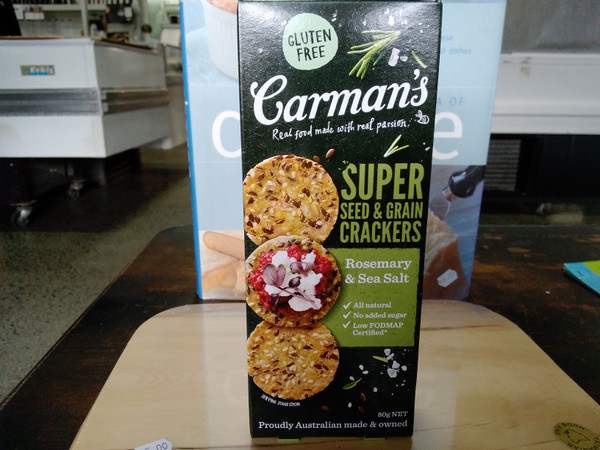 Carmans Super crackers 80g rosemary & seasalt